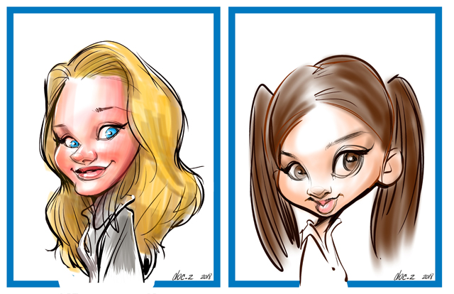 Digital event caricatures and electronic caricature entertainment art in ottawa ontario